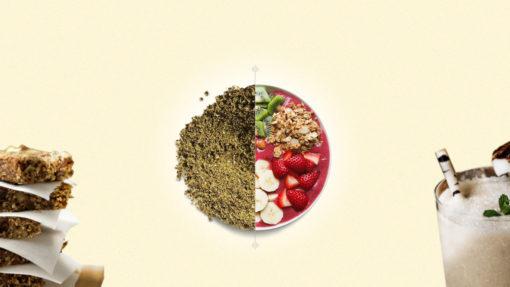 hemp seed protein powder bowl